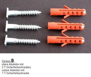 Zestaw antykradzieżowy do aluminiowej ramy do obrazów - wersja B