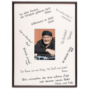 Ramka na zdjęcie z miejscem na podpisy, z tworzywa sztucznego - 30x40 cm
