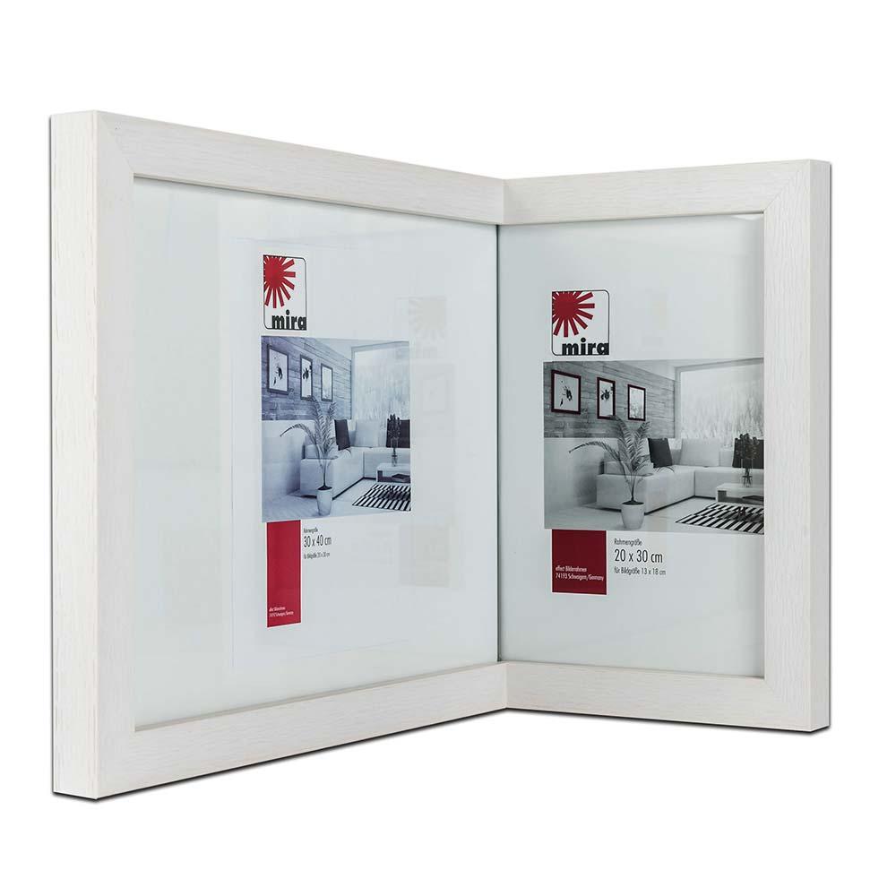 Rama do obrazów narożna 2:1, szeroka 20x30 cm / 30x40 cm | dąb | standardne szkło