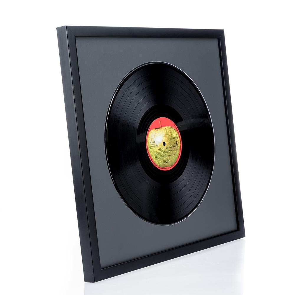 """Rama drewniana """"Top Cube"""" na płytę gramofonową"""