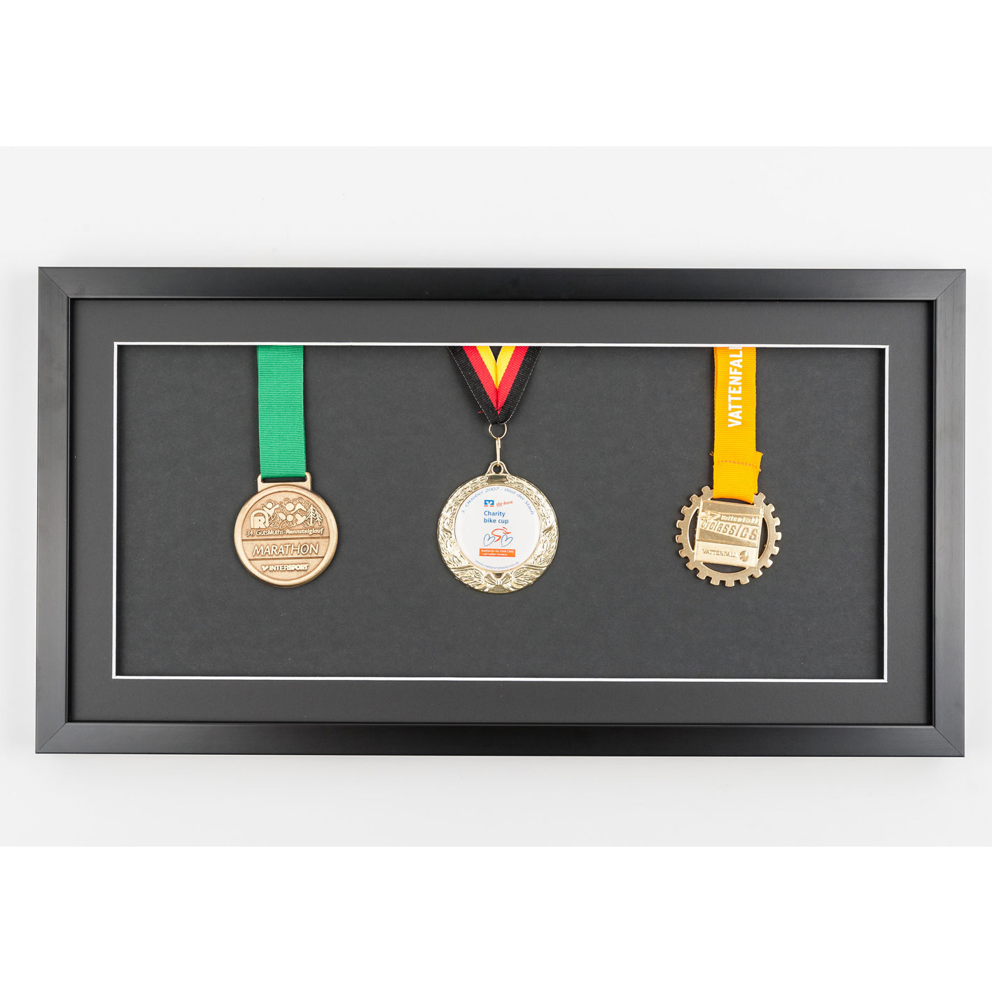 Rama na medale 25x50 cm, czarna