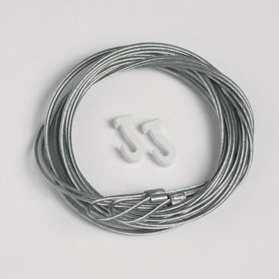 50 szt. linek stalowych 1,3mm/200cm z pętelką i przesuwanymi hakami (max. ciężar 7 kg)