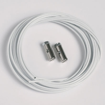 2 szt. linek stalowych białych 1,5mm/200cm z zaczepami zintegrowanymi