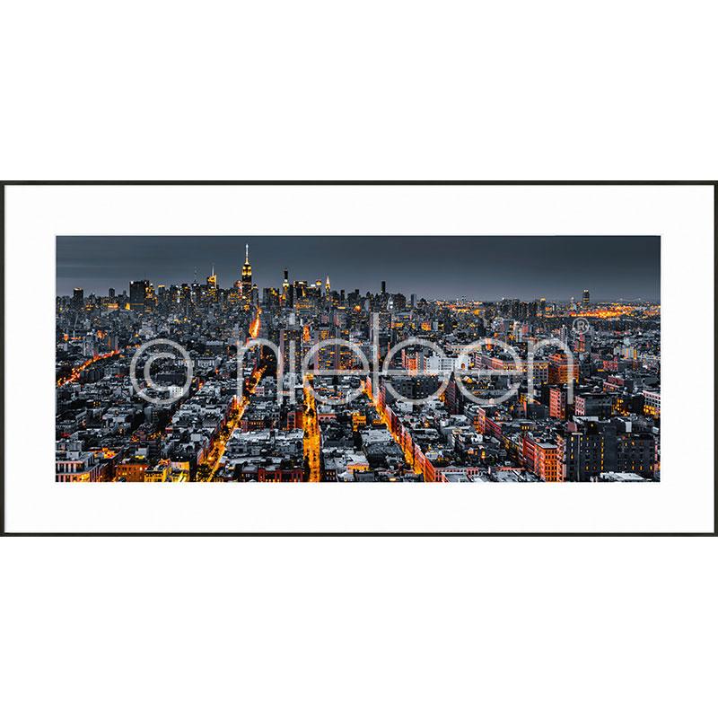 """Obramowany obraz """"New York Skyline"""" z ramą aluminiową C2"""