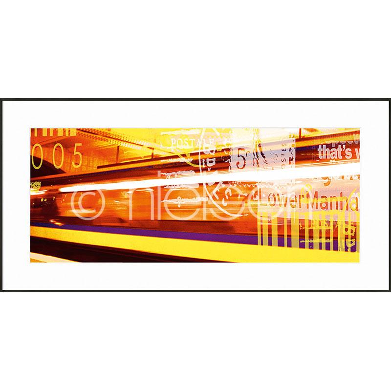 """Obramowany obraz """"Metro Lower Manhattan"""" z ramą aluminiową C2"""