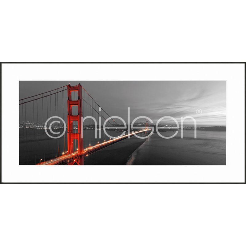 """Obramowany obraz """"Golden Gate Bridge"""" z ramą aluminiową C2"""