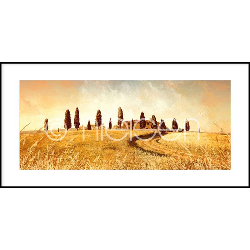 """Obramowany obraz """"Landscape Italy"""" z ramą aluminiową C2"""