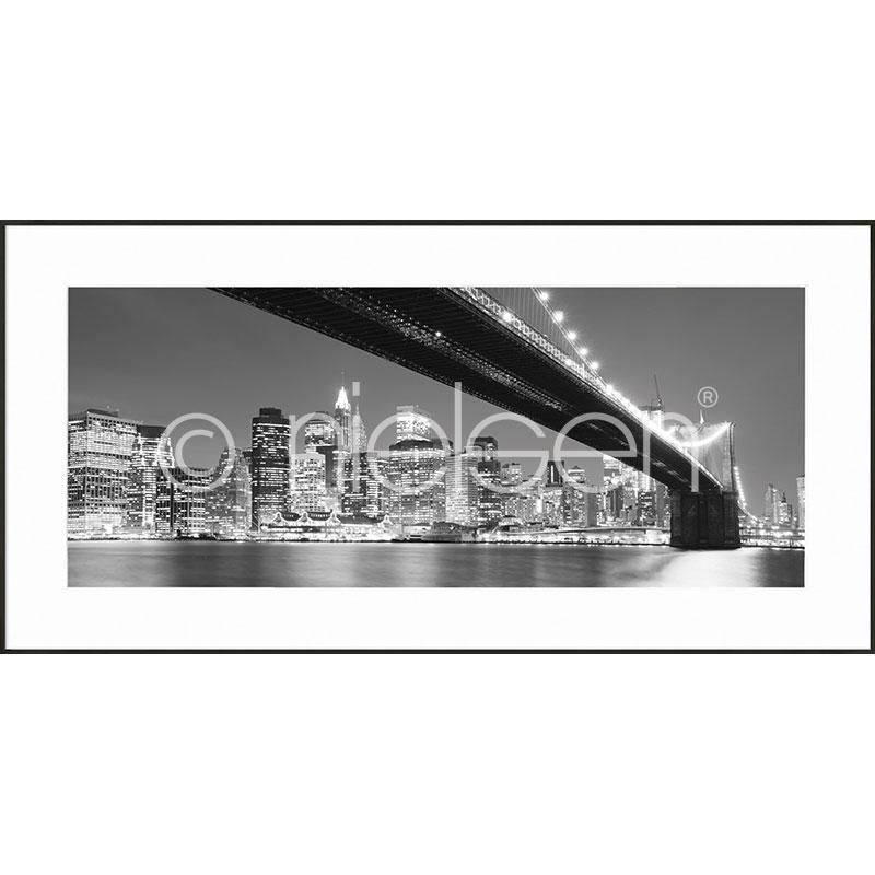 """Obramowany obraz """"Brooklyn Bridge"""" z ramą aluminiową C2"""