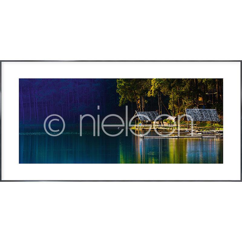 """Obramowany obraz """"Lake"""" z ramą aluminiową Alpha"""