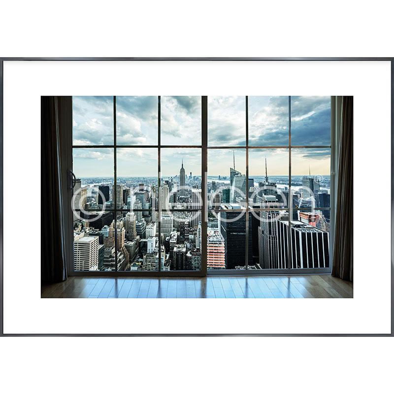 """Obramowany obraz """"Living Room"""" z ramą aluminiową Alpha"""