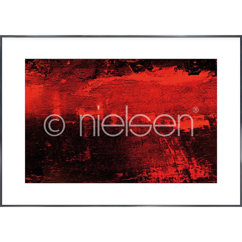 """Obramowany obraz """"Abstract red I"""" z ramą aluminiową Alpha"""