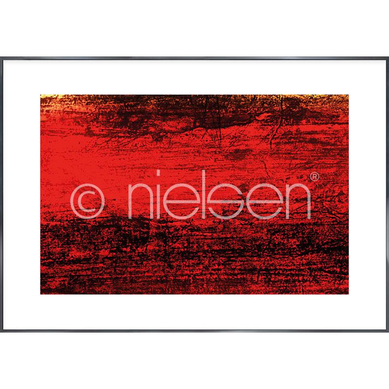 """Obramowany obraz """"Abstract red II"""" z ramą aluminiową Alpha"""