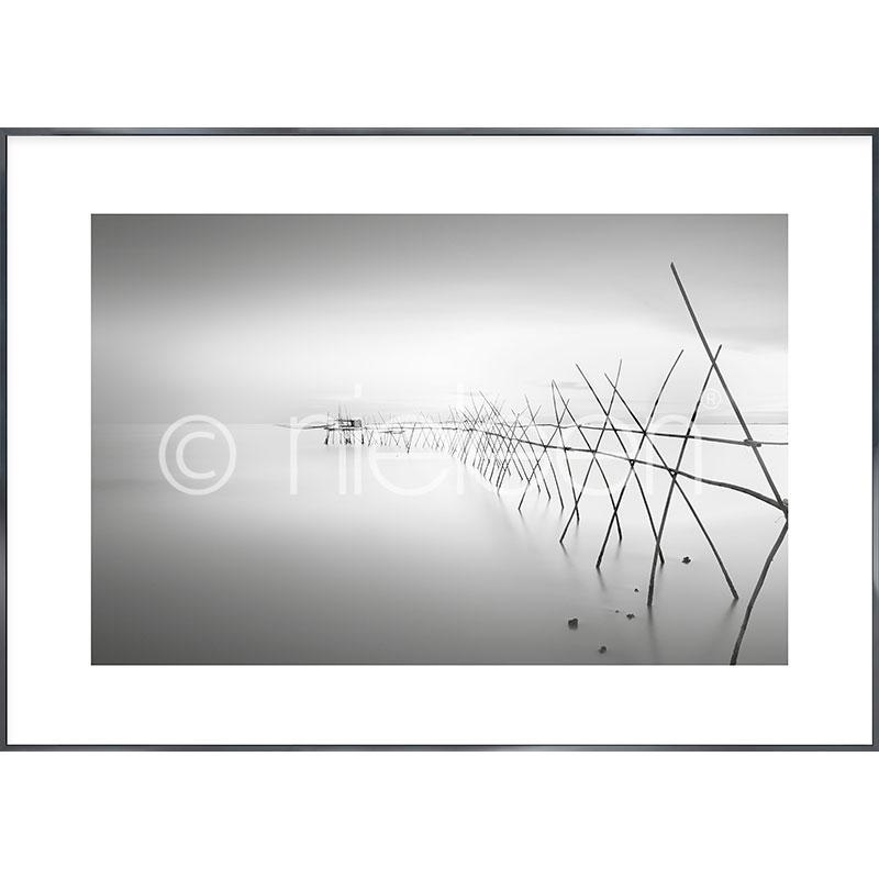 """Obramowany obraz """"Malaysian Fishing II"""" z ramą aluminiową Alpha"""