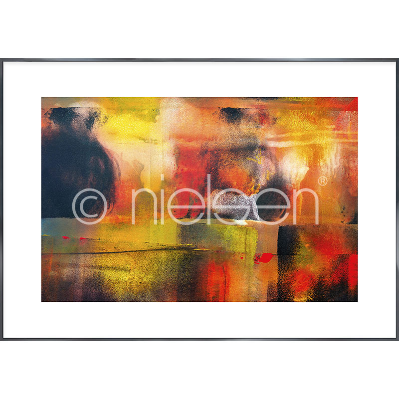 """Obramowany obraz """"Abstract"""" z ramą aluminiową Alpha"""