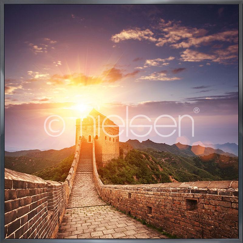 """Obramowany obraz """"Chinese Wall"""" z ramą aluminiową Alpha"""