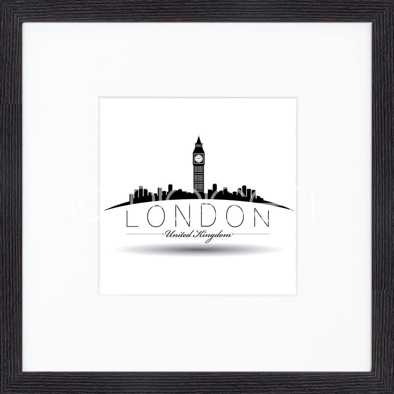 """Obramowany obraz """"Londyn"""" z ramą drewnianą Quadrum"""