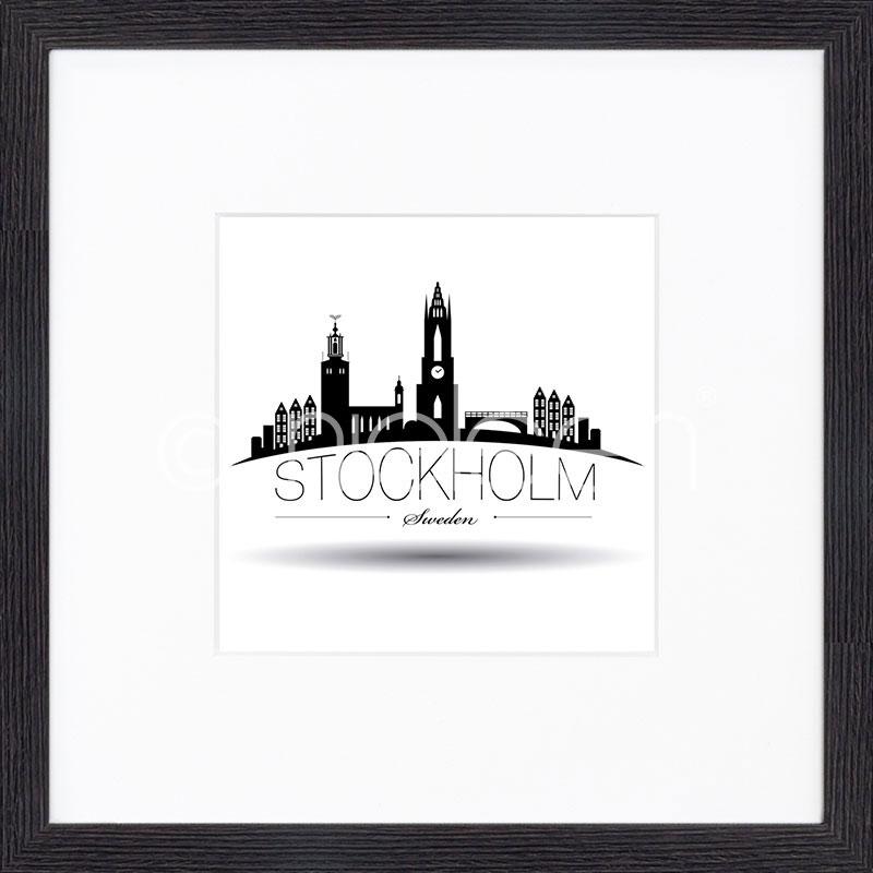 """Obramowany obraz """"Stockholm"""" z ramą drewnianą Quadrum"""