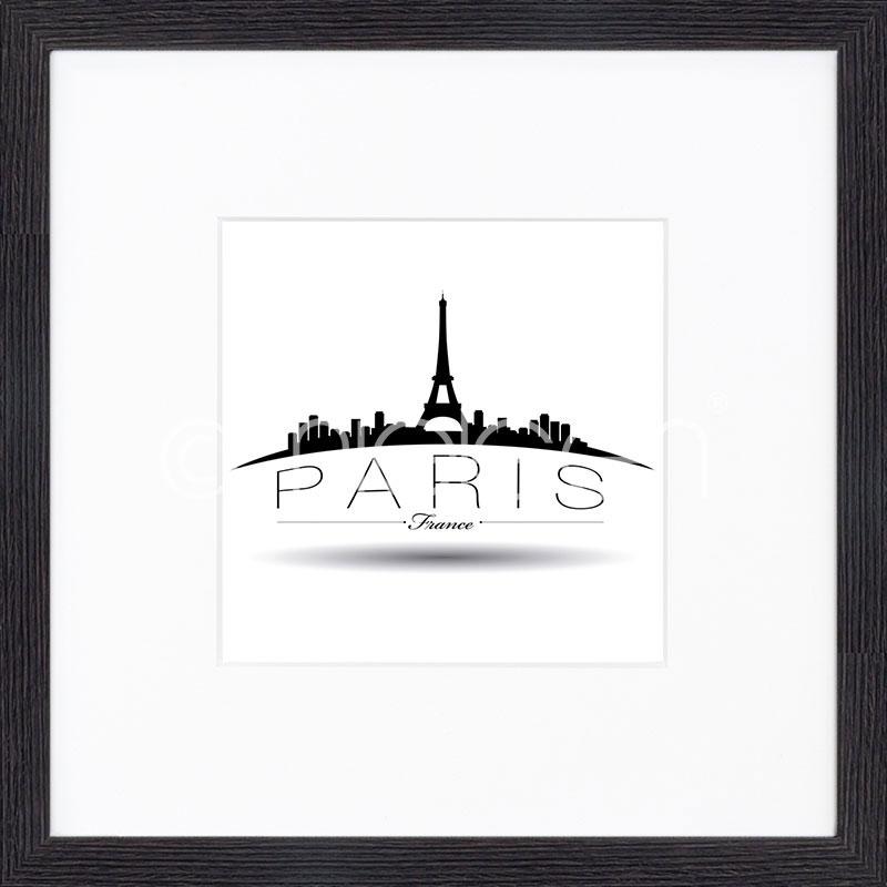 """Obramowany obraz """"Paris"""" z ramą drewnianą Quadrum"""