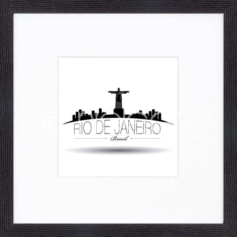 """Obramowany obraz """"Rio de Janeiro"""" z ramą drewnianą Quadrum"""