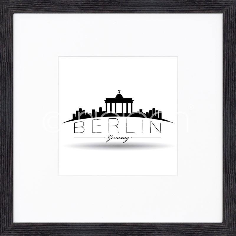 """Obramowany obraz """"Berlin"""" z ramą drewnianą Quadrum"""