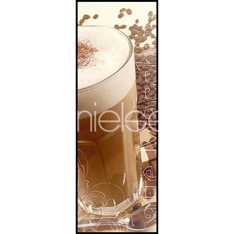 """Obramowany obraz """"Coffee Time"""" z ramą aluminiową C2"""