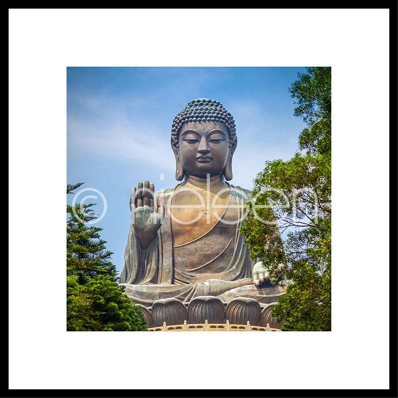 """Obramowany obraz """"Statue of Buddha"""" z ramą aluminiową C2"""