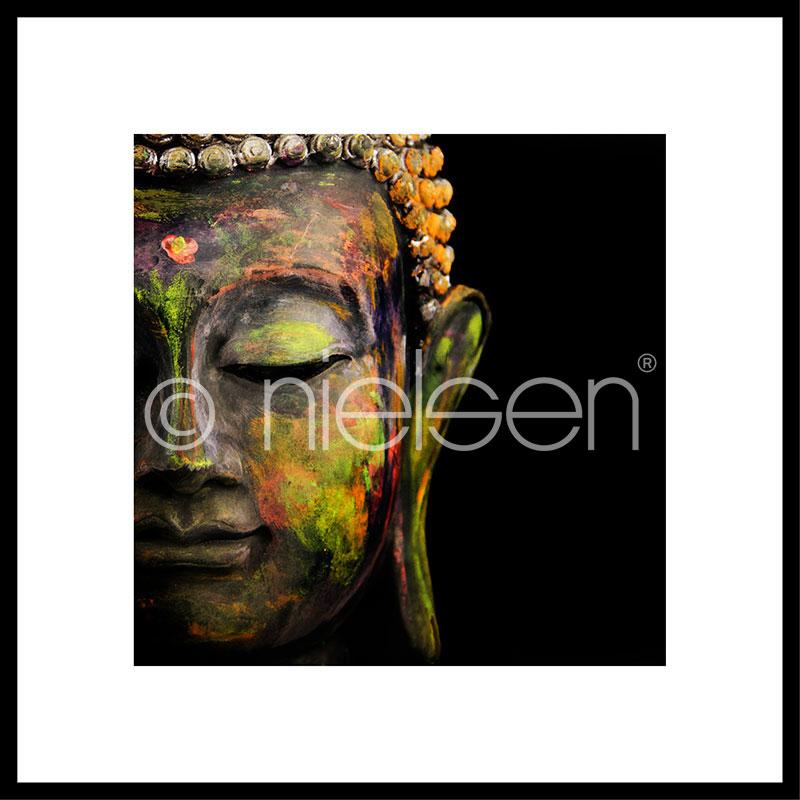 """Obramowany obraz """"Buddha head"""" z ramą aluminiową C2"""