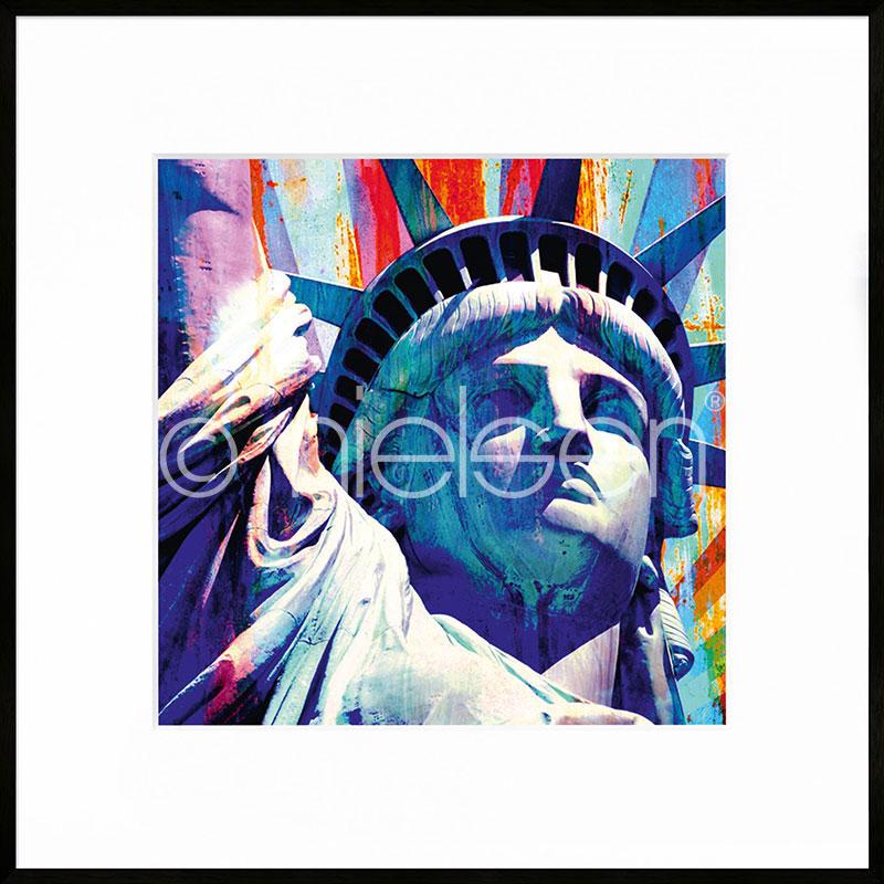 """Obramowany obraz """"Statue of Liberty"""" z ramą aluminiową C2"""