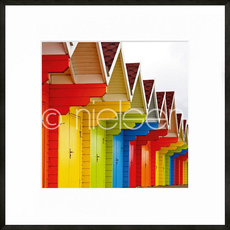 """Obramowany obraz """"Cottage"""" z ramą aluminiową C2"""