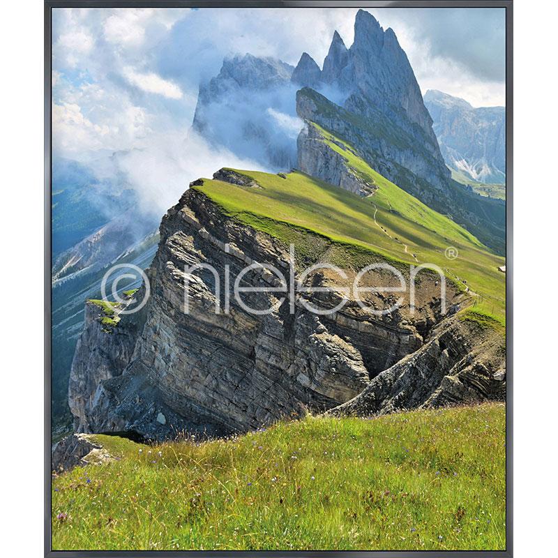 """Obramowany obraz """"Mountain Range"""" z ramą aluminiową Alpha"""