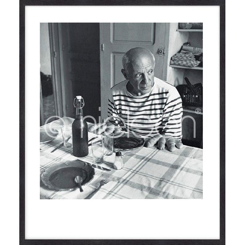 """Obramowany obraz """"Les pains de Picasso 1985"""" z ramą drewnianą Quadrum"""