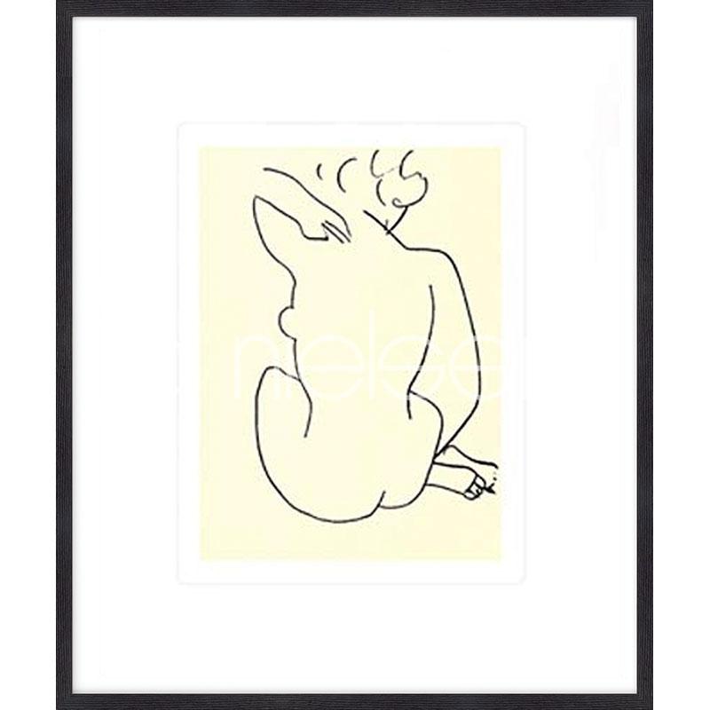 """Obramowany obraz """"Nu, 1949 con Matisse"""" z ramą drewnianą Quadrum"""