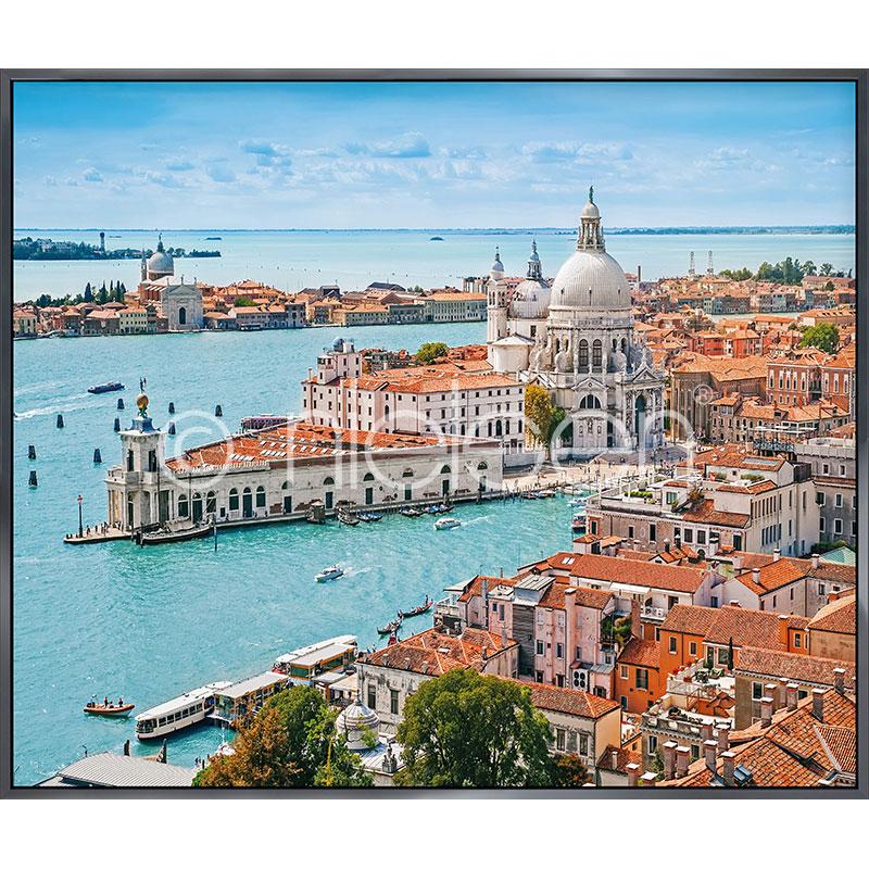 "Obramowany obraz ""Venice Santa Maria"" z ramą aluminiową Alpha"