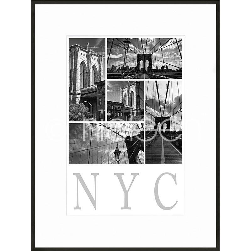 """Obramowany obraz """"New York City"""" z ramą aluminiową C2"""