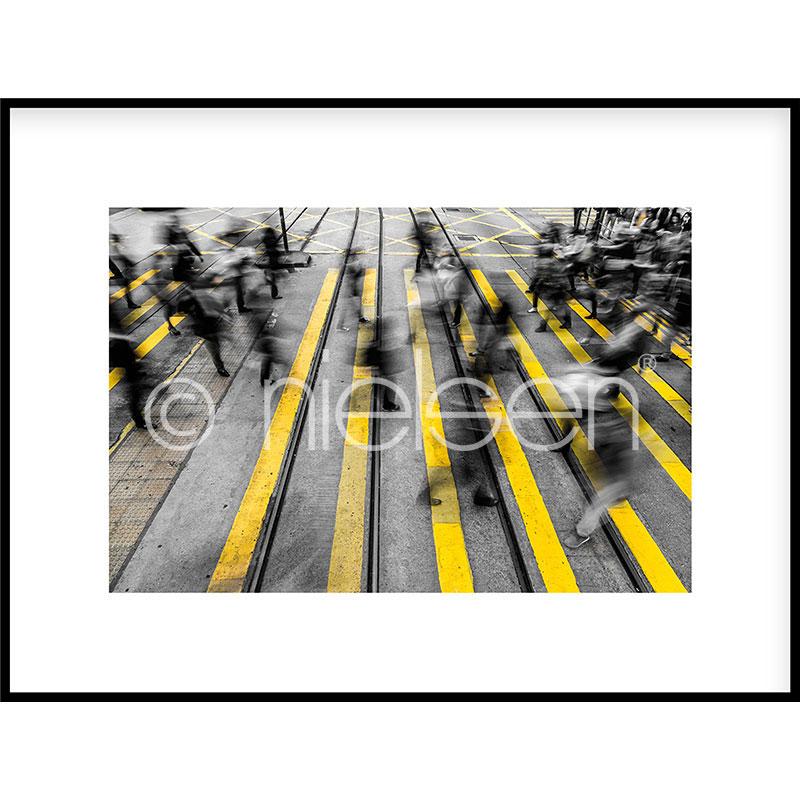 """Obramowany obraz """"Zebra Crossing"""" z ramą aluminiową C2"""