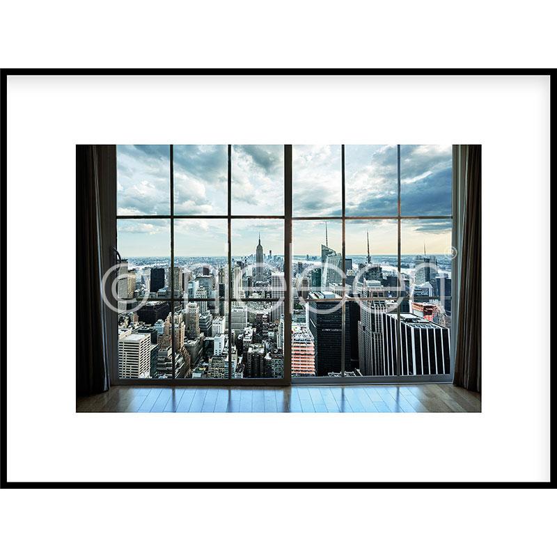"""Obramowany obraz """"Living Room"""" z ramą aluminiową C2"""