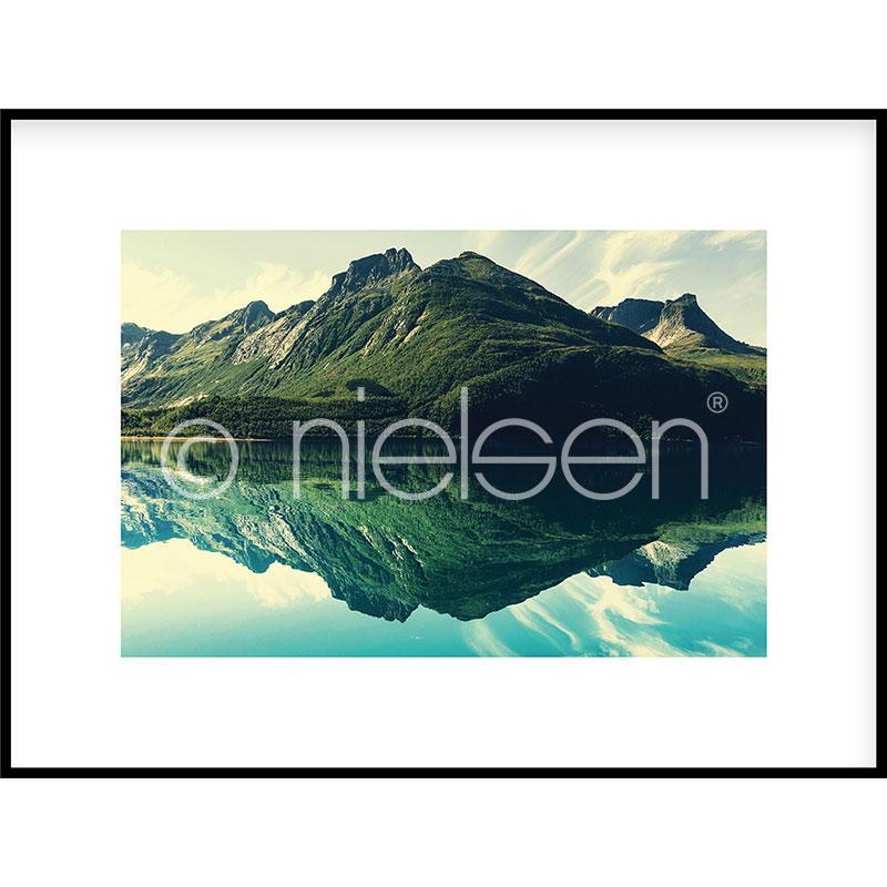 """Obramowany obraz """"Mountain Lake"""" z ramą aluminiową C2"""