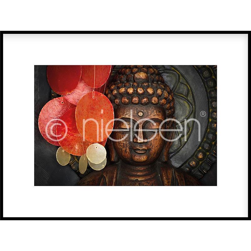 """Obramowany obraz """"Buddha"""" z ramą aluminiową C2"""