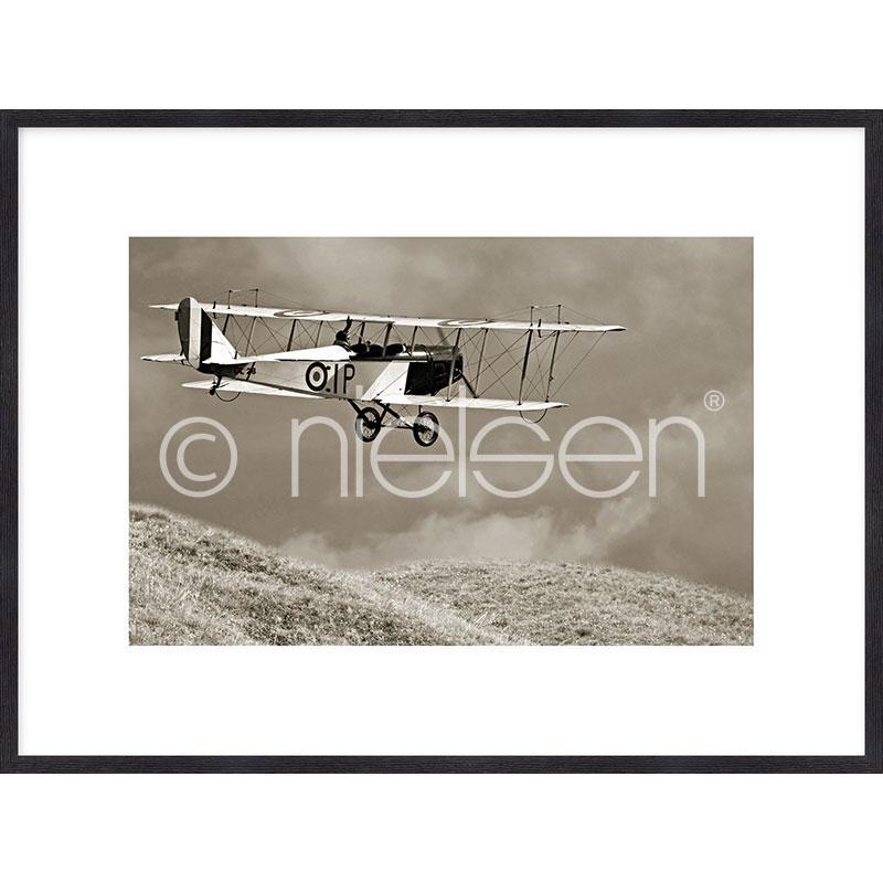 """Obramowany obraz """"Historic Plane"""" z ramą drewnianą Quadrum"""