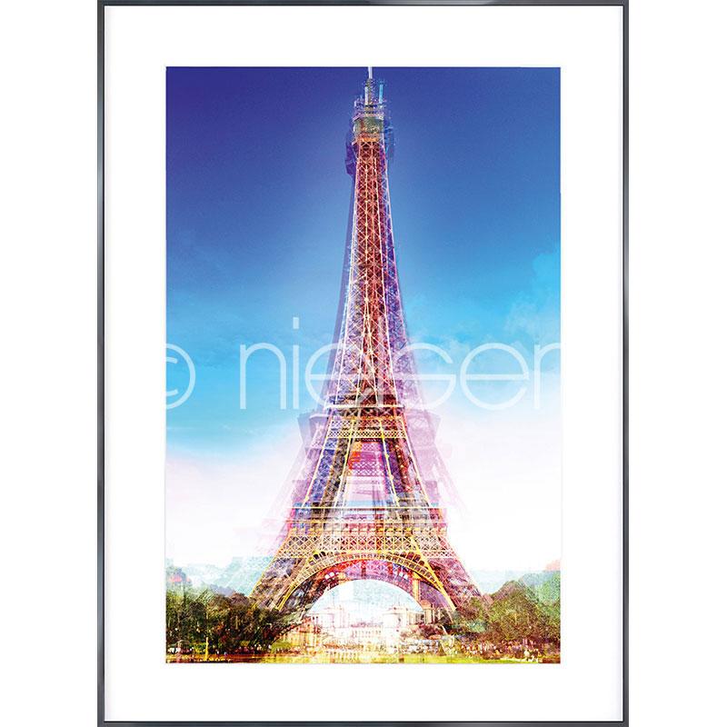 """Obramowany obraz """"Eiffel Tower"""" z ramą aluminiową Alpha"""