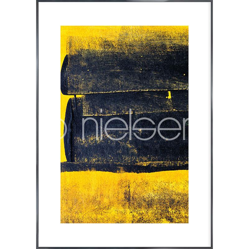 """Obramowany obraz """"Abstract Yellow"""" z ramą aluminiową Alpha"""