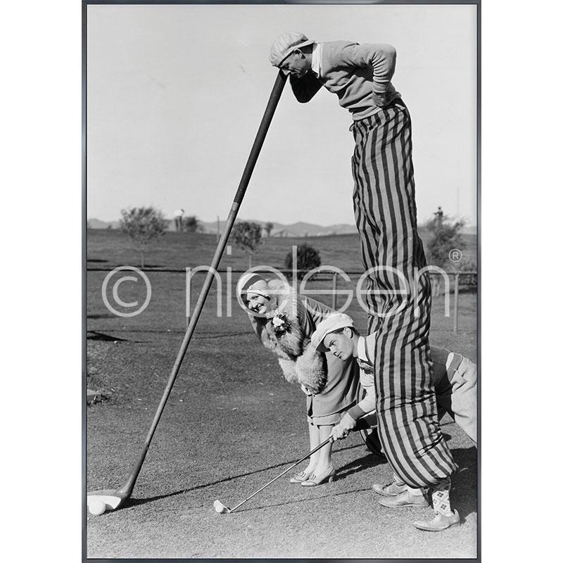 """Obramowany obraz """"Golfer"""" z ramą aluminiową Alpha"""