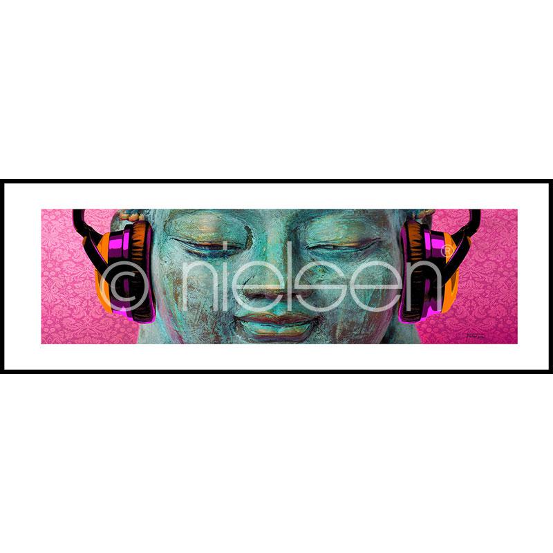 """Obramowany obraz """"Buddha Chill"""" z ramą aluminiową C2"""