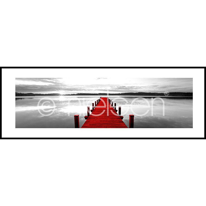 """Obramowany obraz """"Footbridge red"""" z ramą aluminiową C2"""