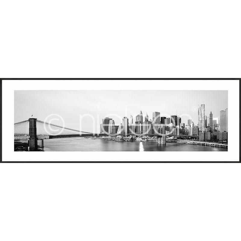 """Obramowany obraz """"New York City Skyline"""" z ramą aluminiową C2"""