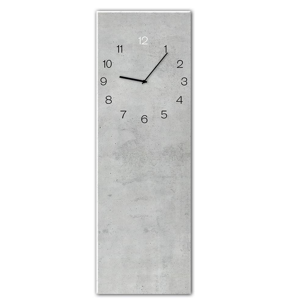 Szklany zegar CONCRETE