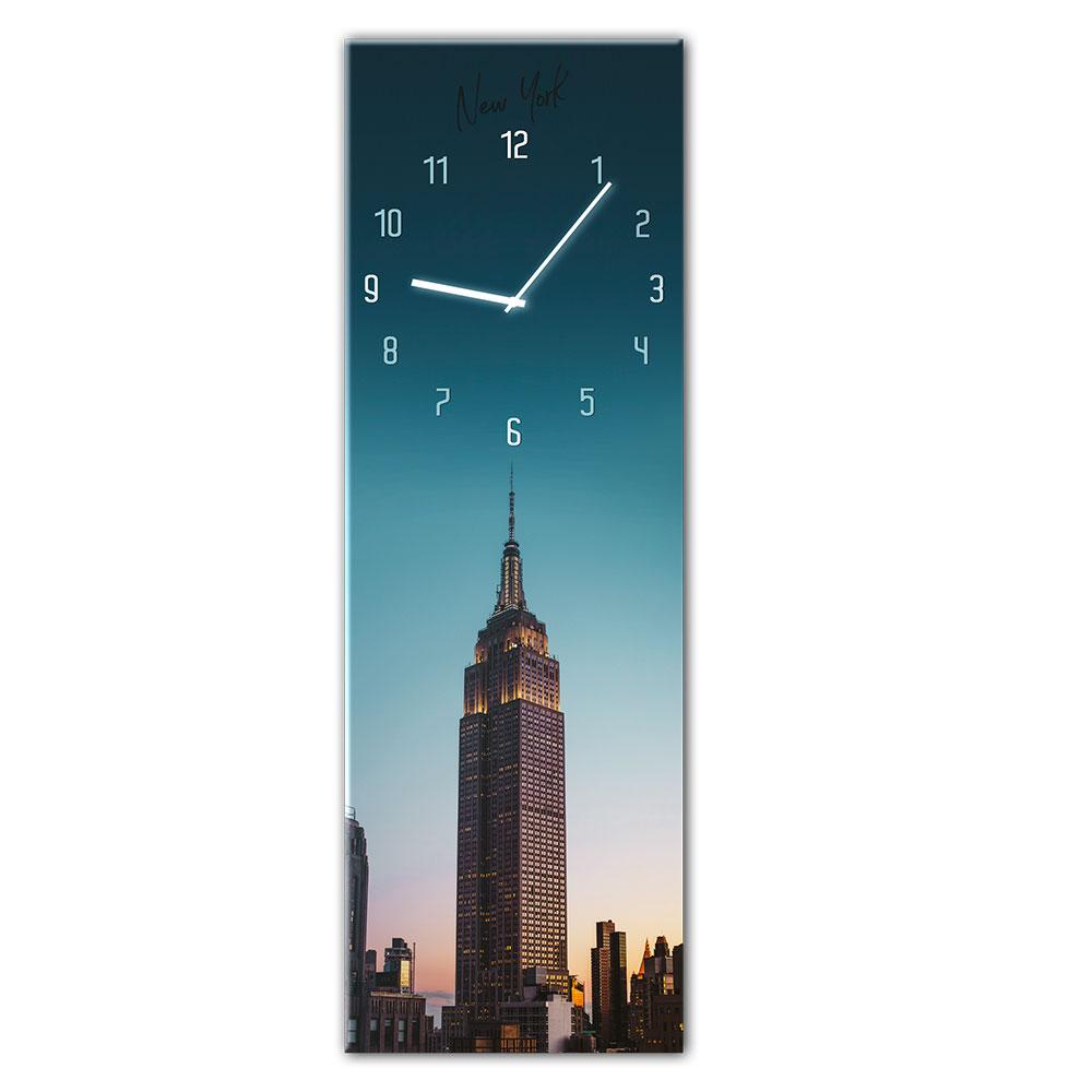 Szklany zegar MANHATTAN