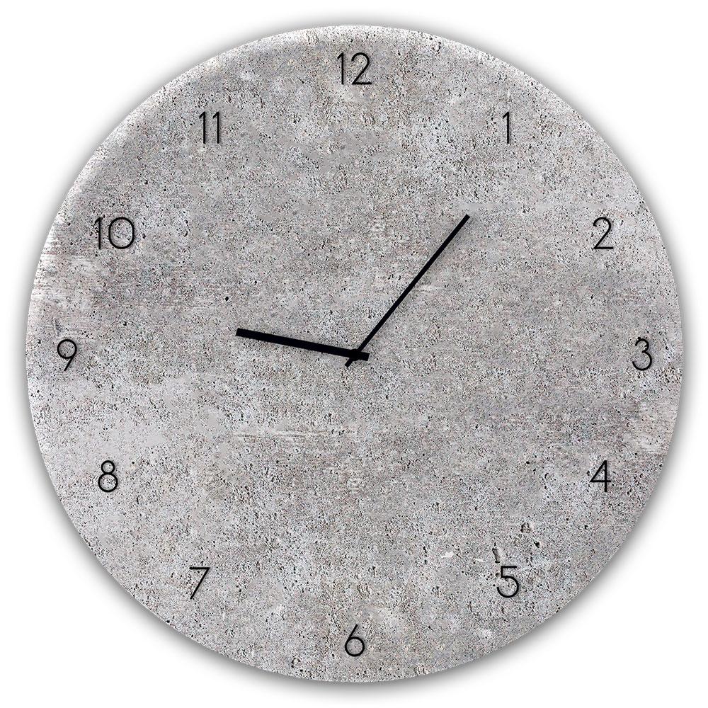 Szklany zegar CONCRETE 2