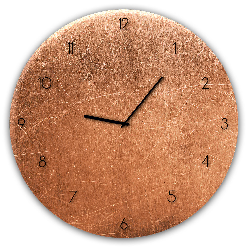 Szklany zegar COPPER