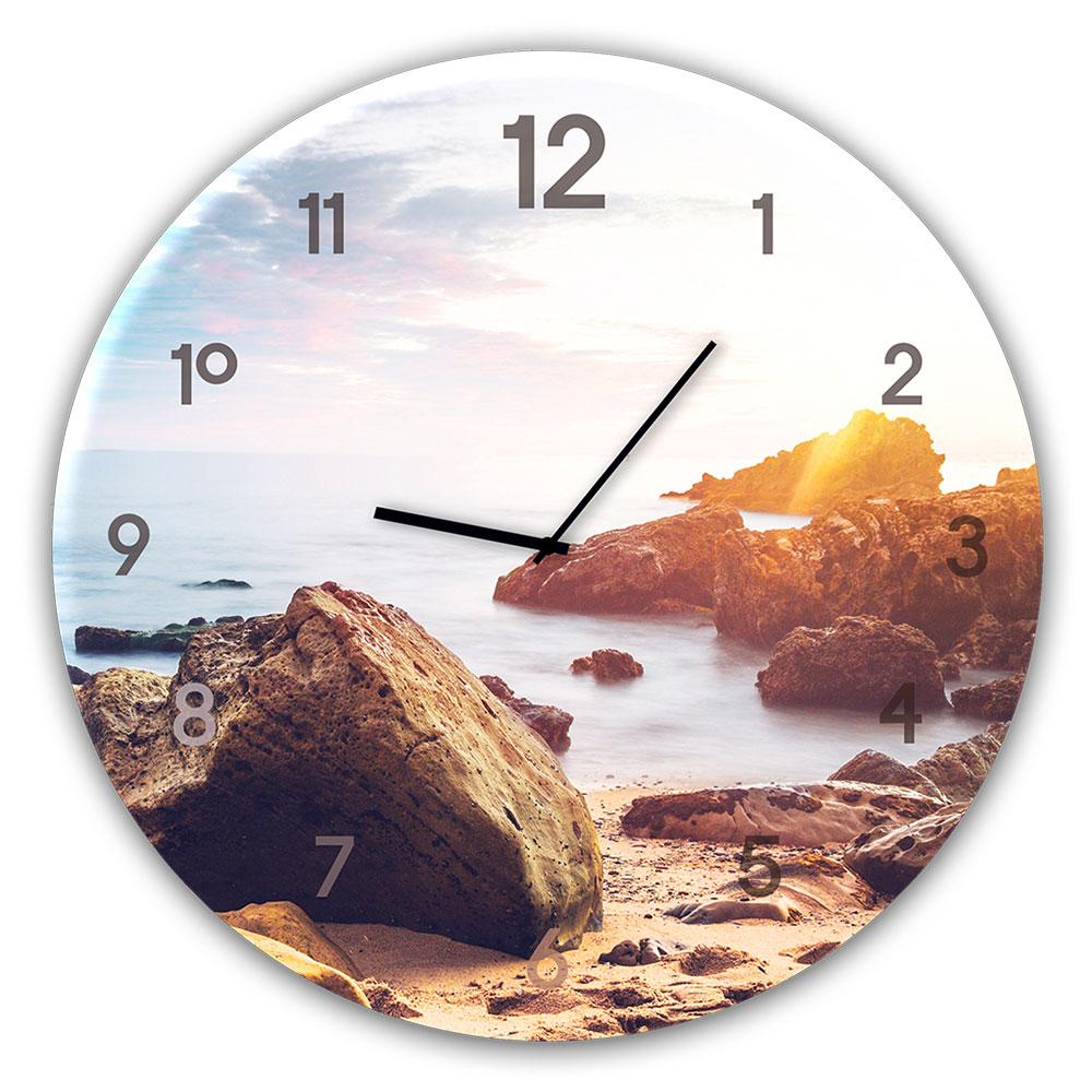 Szklany zegar STONES
